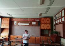 Irina Zakijeva, učiteljica marijskega jezika in književnosti v visokošolski učilnici