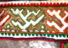 Mozaični vzorec na krznu